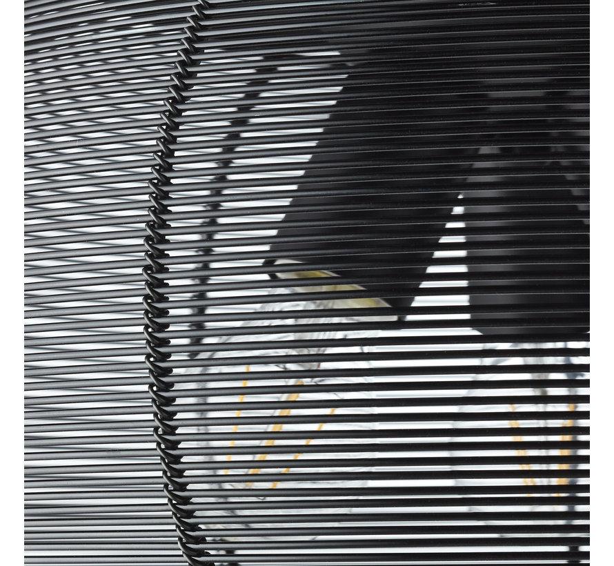 Deckenlampe Samba 3-flammig 40 cm schwarz