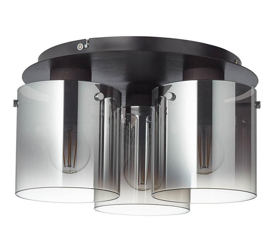 Deckenlampe Bea 3-flammig Glas schwarz