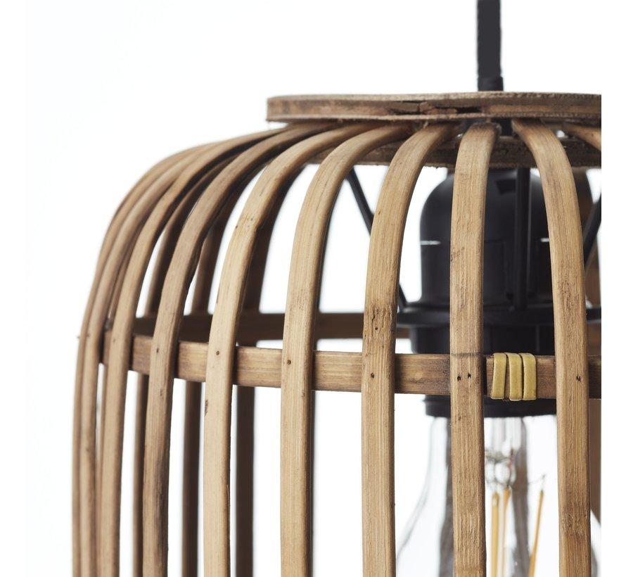 Hängelampe Woody 3-flammig Bambus