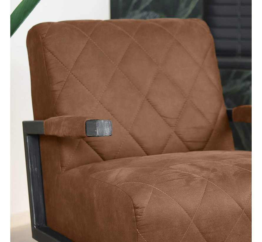 Sessel Microfaser Lucky Industrial Design cognac
