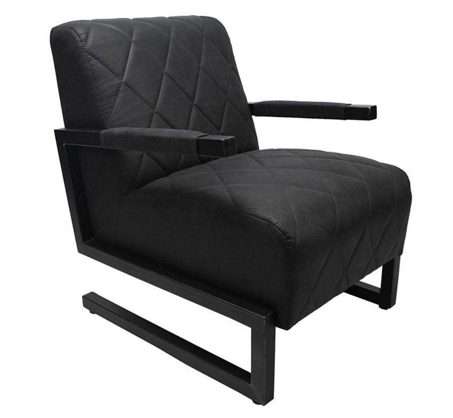 Sessel Microfaser Lucky Industrial Design schwarz