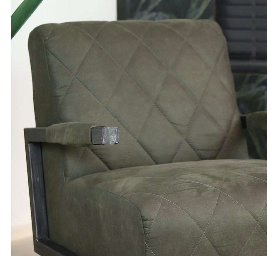 Sessel Microfaser Lucky Industrial Design olivgrün