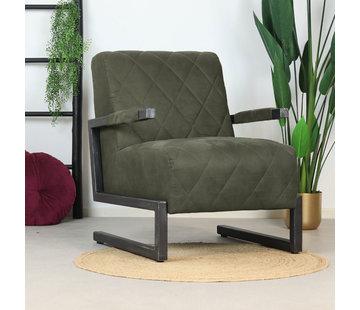 Bronx71 Sessel Microfaser Lucky Industrial Design olivgrün