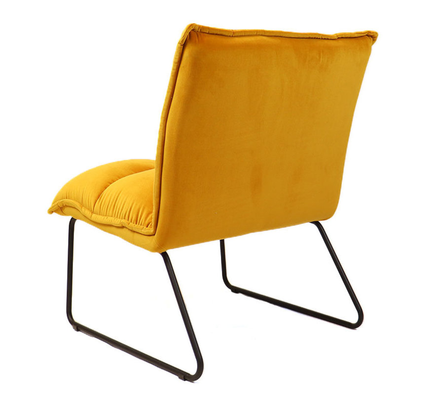 Samt Sessel Malaga modern ockergelb