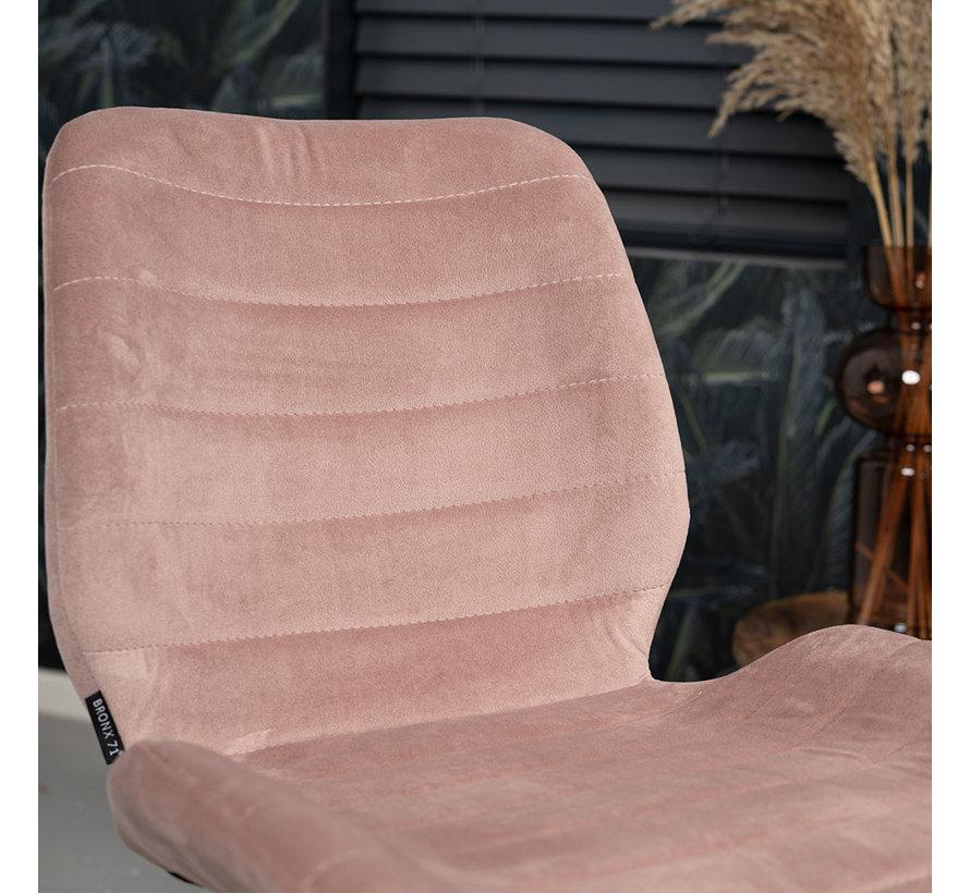 Esszimmerstuhl Samt Toby modern rosa