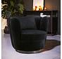 Samt Sessel Maria drehbar schwarz