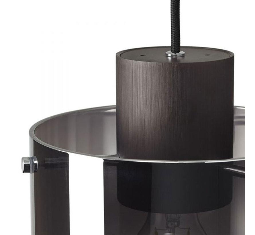 Hängelampe Mace 3-flammig Glas smoke