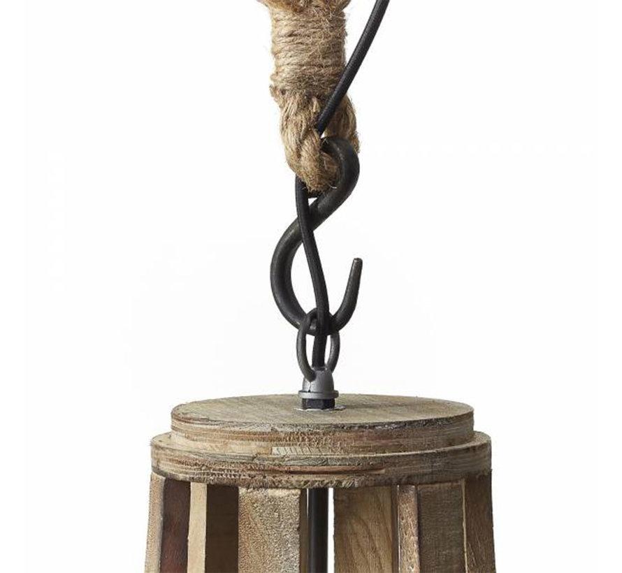 Hängelampe Raf 1-flammig Holz ø43 cm