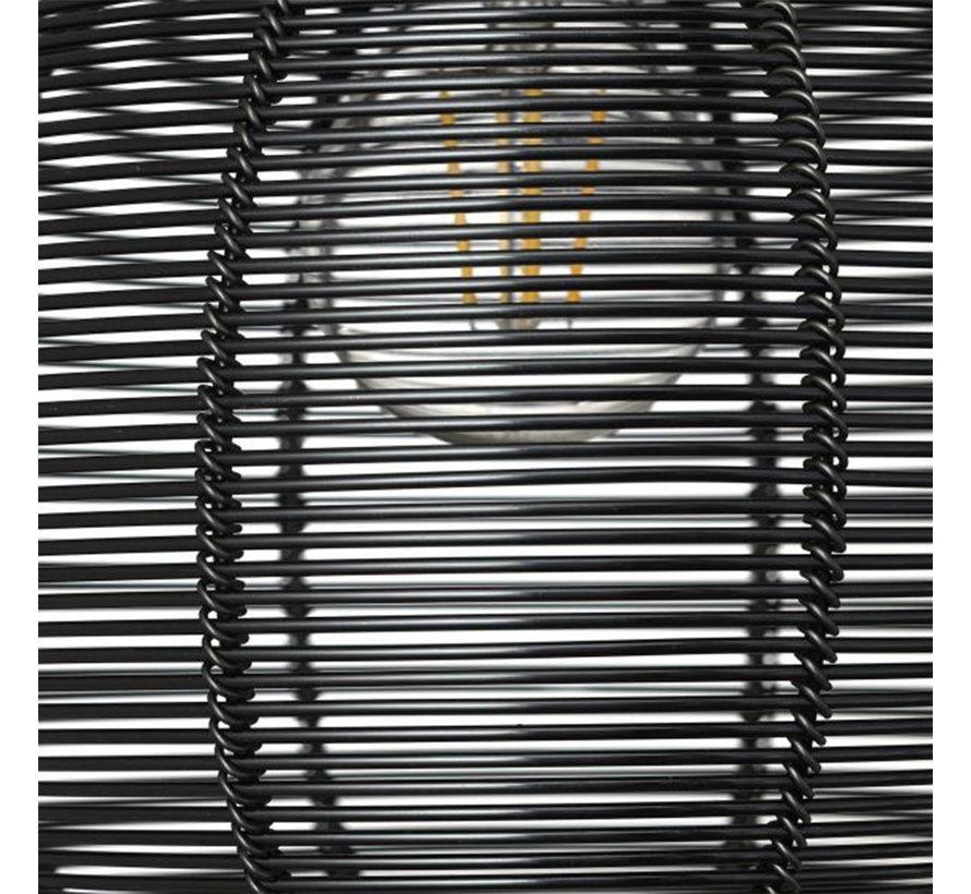 Hängelampe Yaiza 3-flammig schwarz Rondell