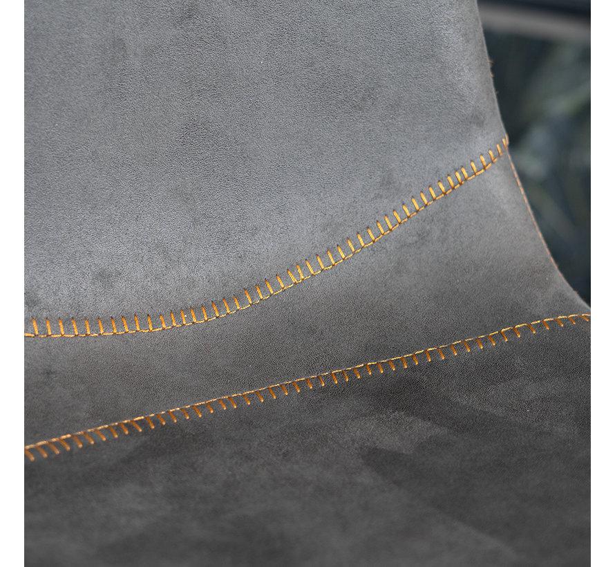 Barhocker Microfaser Susan anthrazit 72 cm