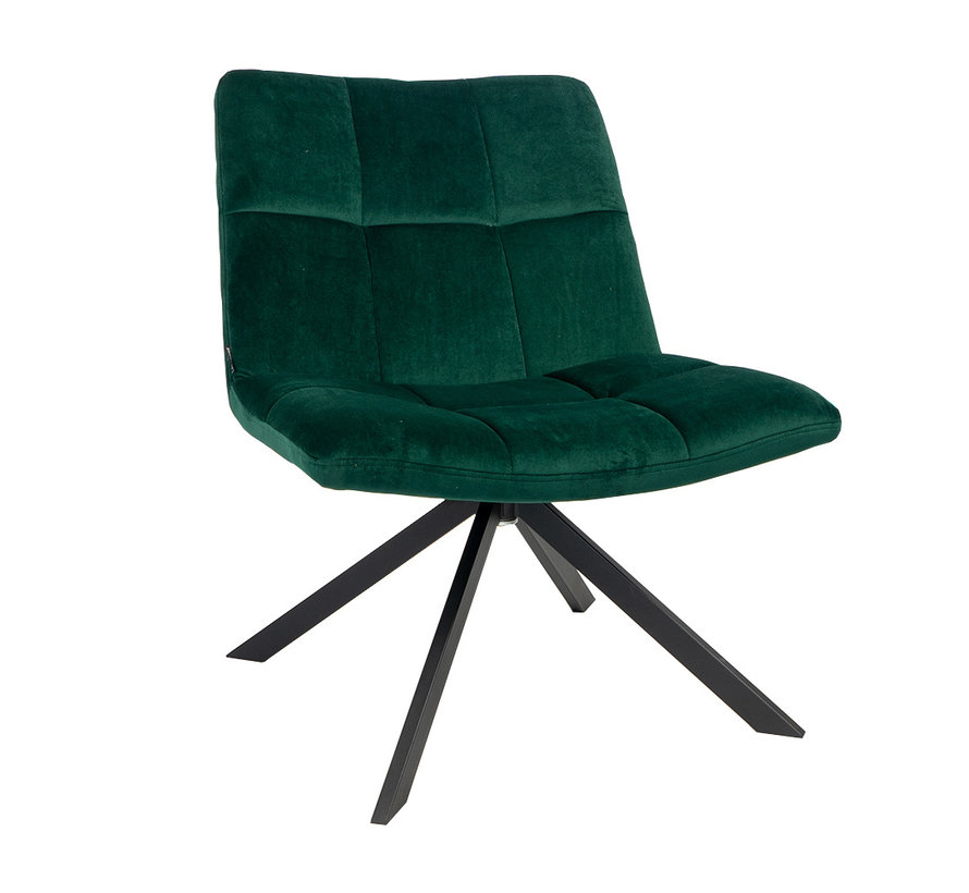 Samt Sessel Eevi dunkelgrün drehbar