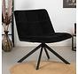 Samt Sessel Eevi schwarz drehbar