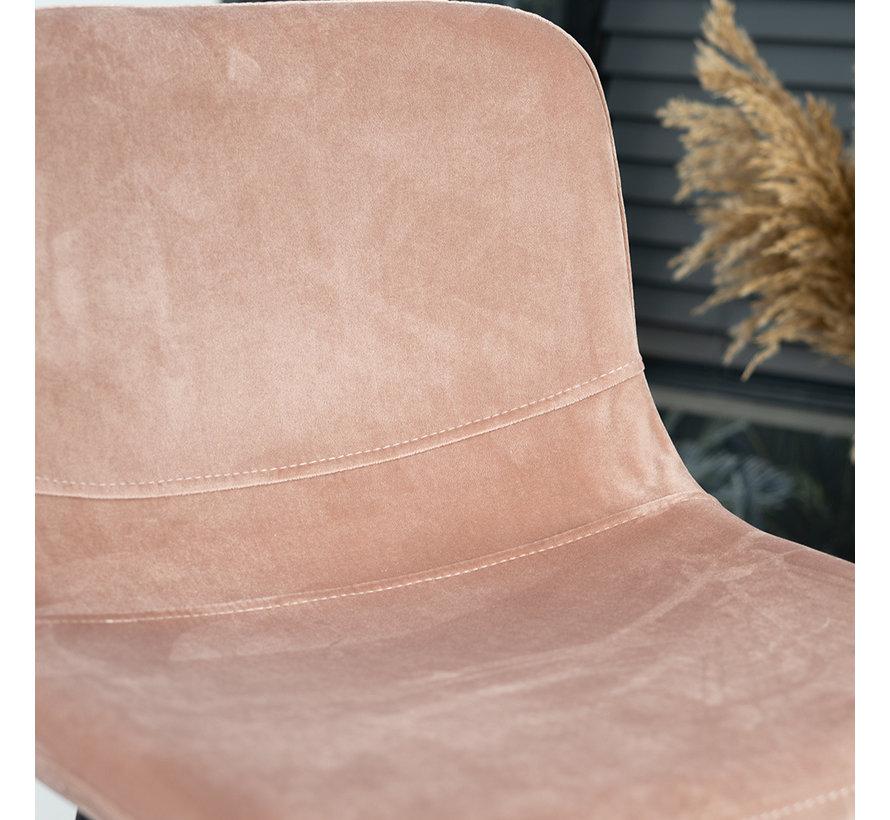 Barhocker Samt Mikky 67 - 80 cm rosa