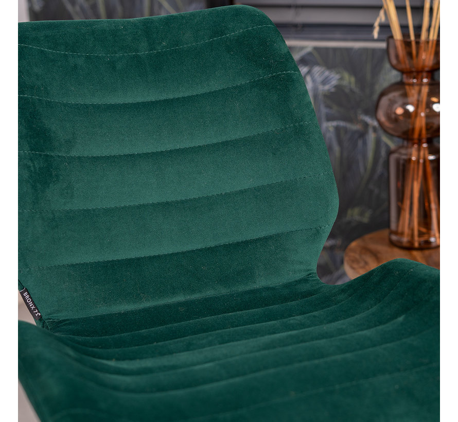 Esszimmerstuhl Samt Toby modern grün