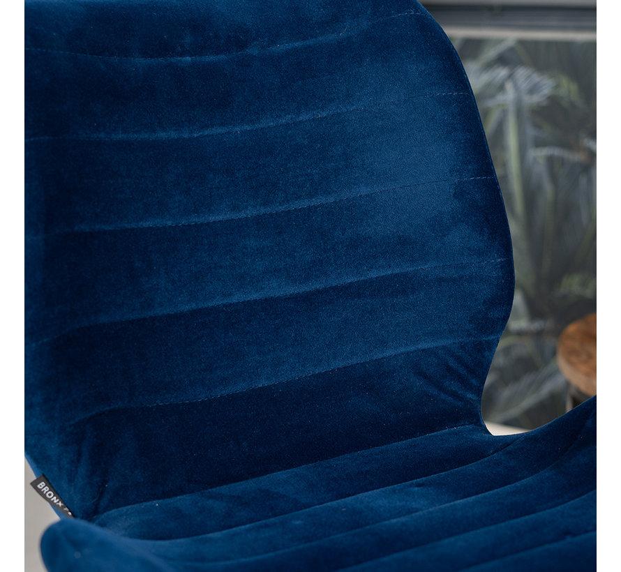 Esszimmerstuhl Samt Toby modern blau