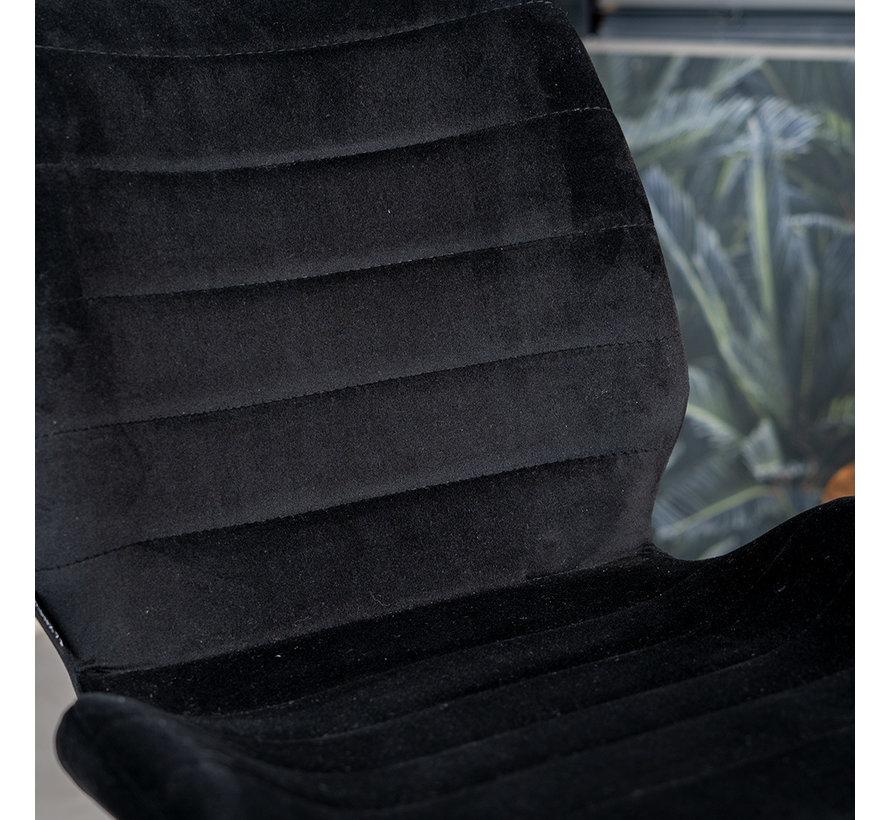 Esszimmerstuhl Samt Toby modern schwarz