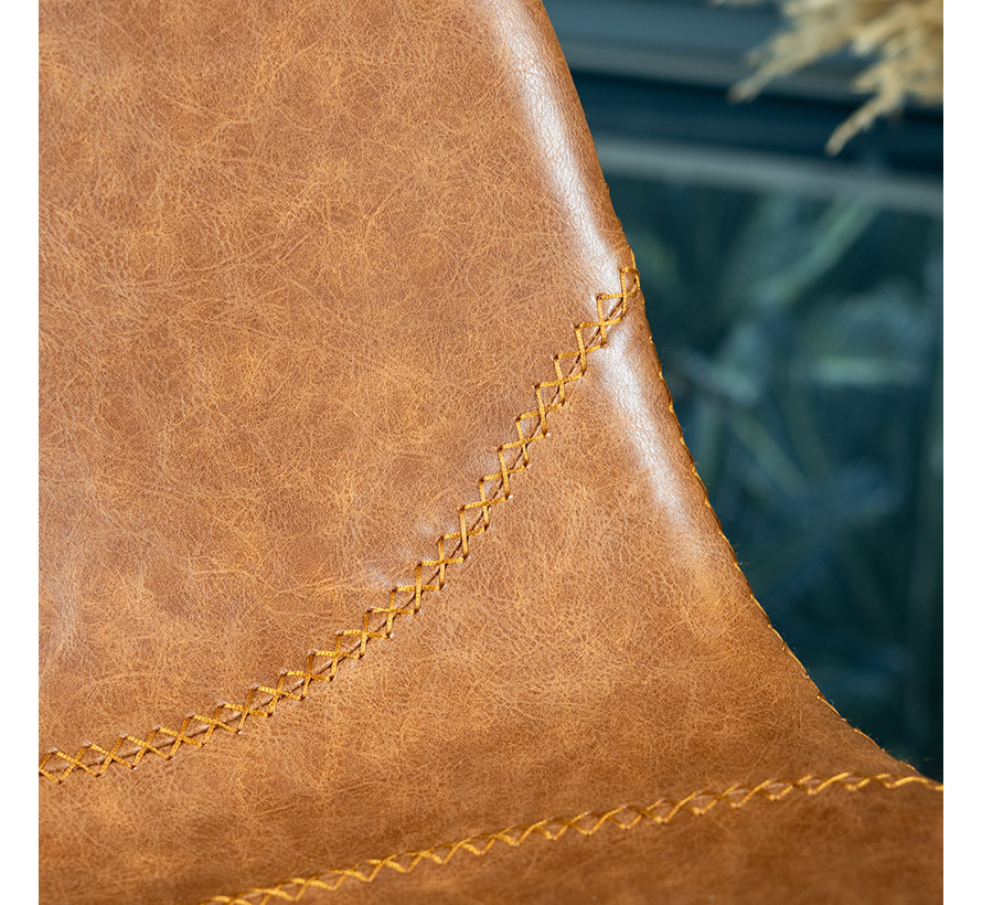 Barhocker Leder Luke cognac 67 cm