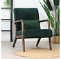 Samt Sessel Bibi mit Armlehne grün