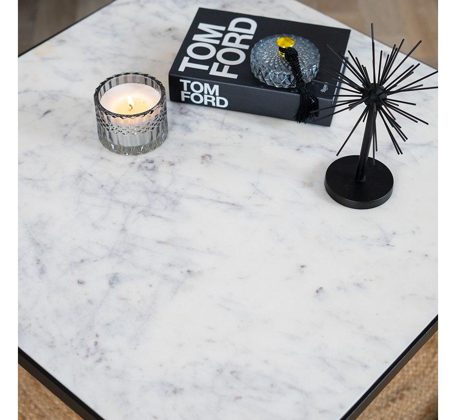 Couchtisch Marmor Rico 70 x 70 cm weiß