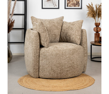 Bronx71 Sessel Ruby Chenille taupe