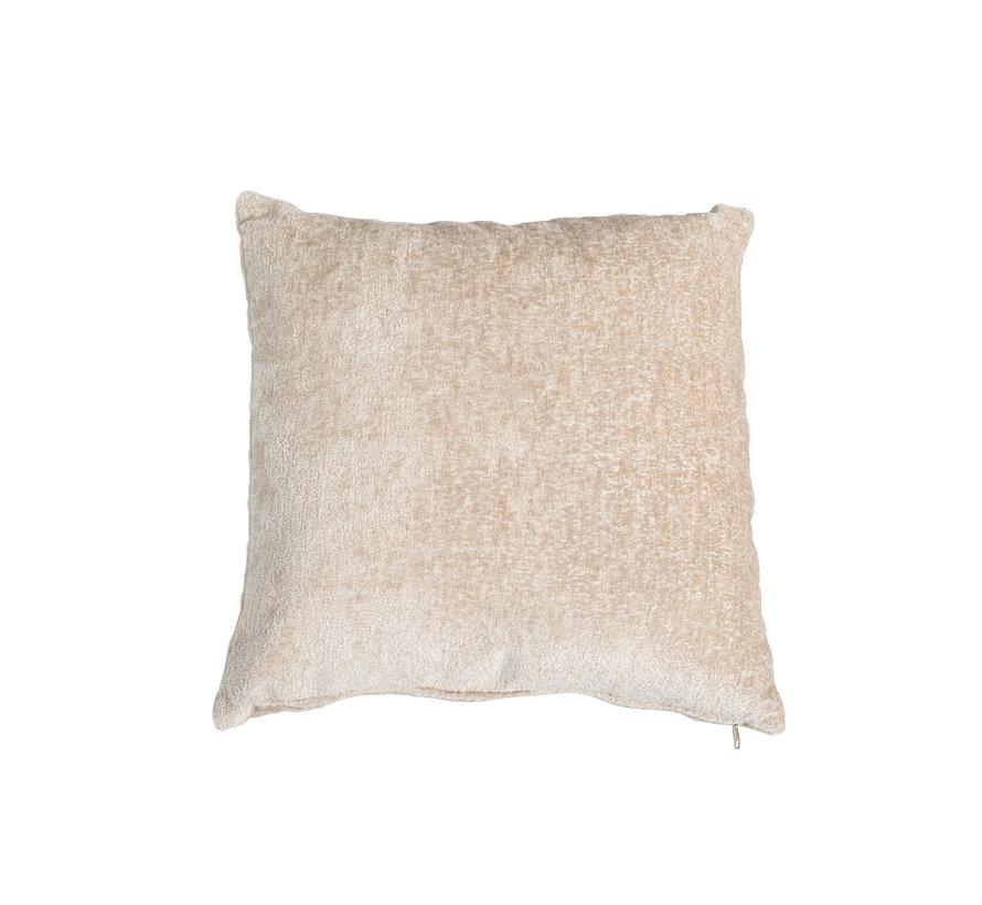 Kissen Juna Chenille Stoff weiß 45x45 cm