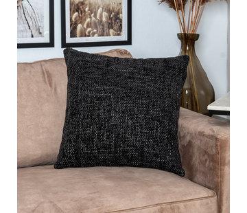Bronx71 Kissen Feline Chenille Stoff schwarz 45x45 cm
