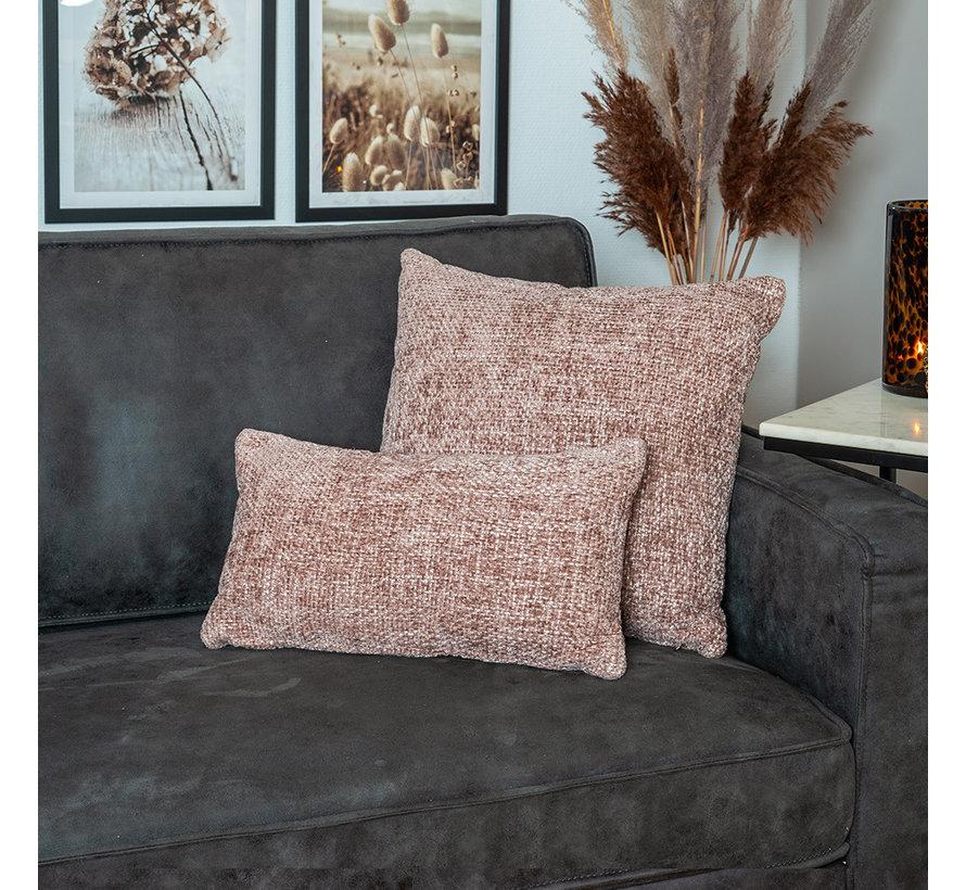 Kissen Feline Chenille Stoff rosa 25x45 cm