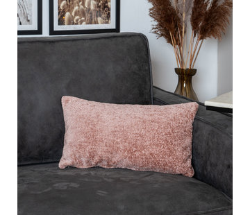 Bronx71 Kissen Juna Chenille Stoff rosa 25x45 cm