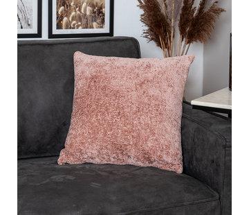 Bronx71 Kissen Juna Chenille Stoff rosa 45x45 cm