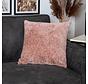 Kissen Juna Chenille Stoff rosa 45x45 cm