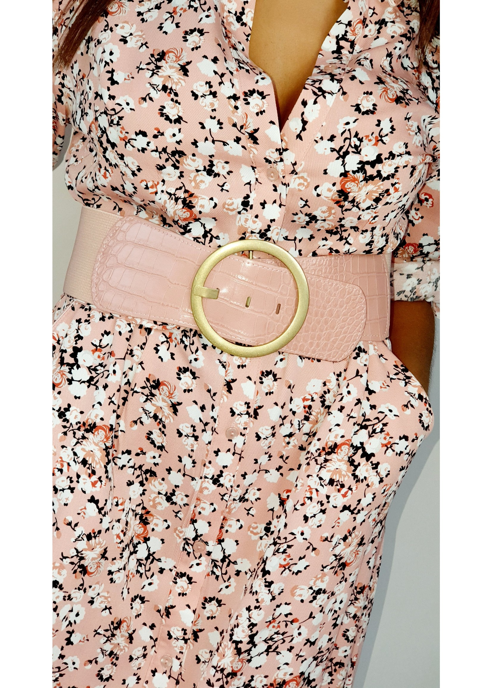 Thé pink flower dress