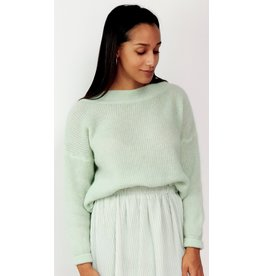 Minty feeling knitted sweater