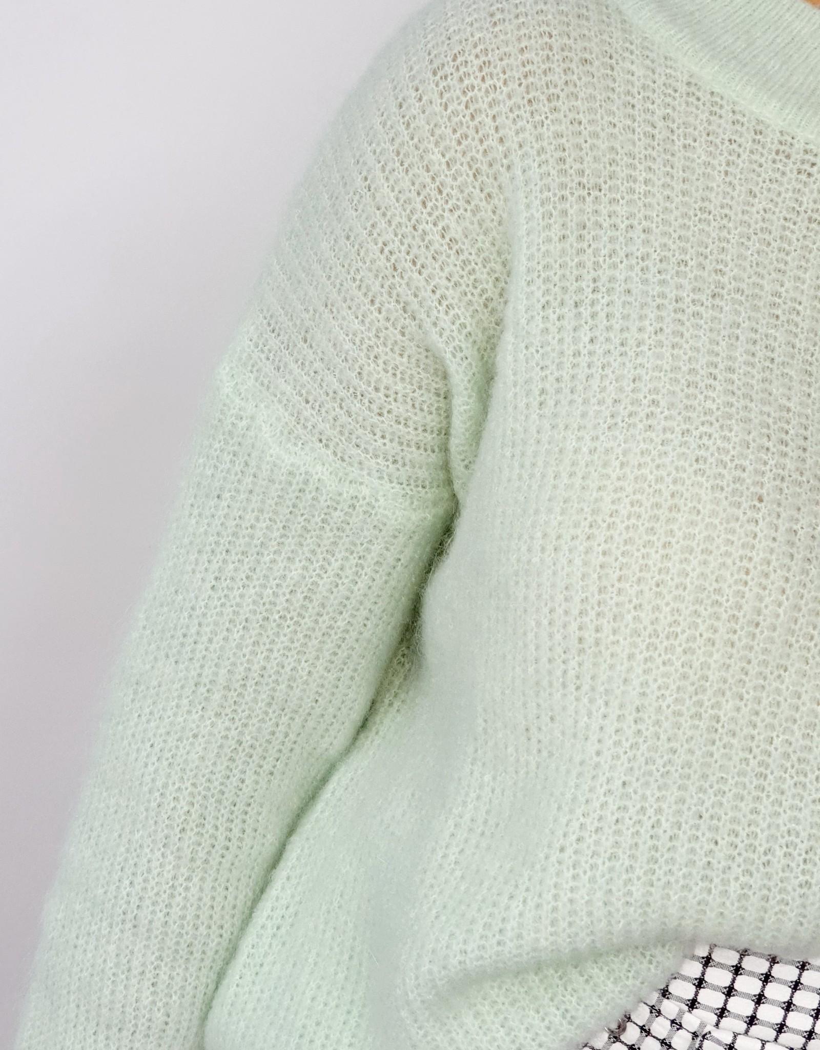 Minty feeling knitted sweater