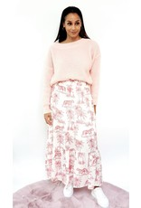 Pink feeling knitted sweater