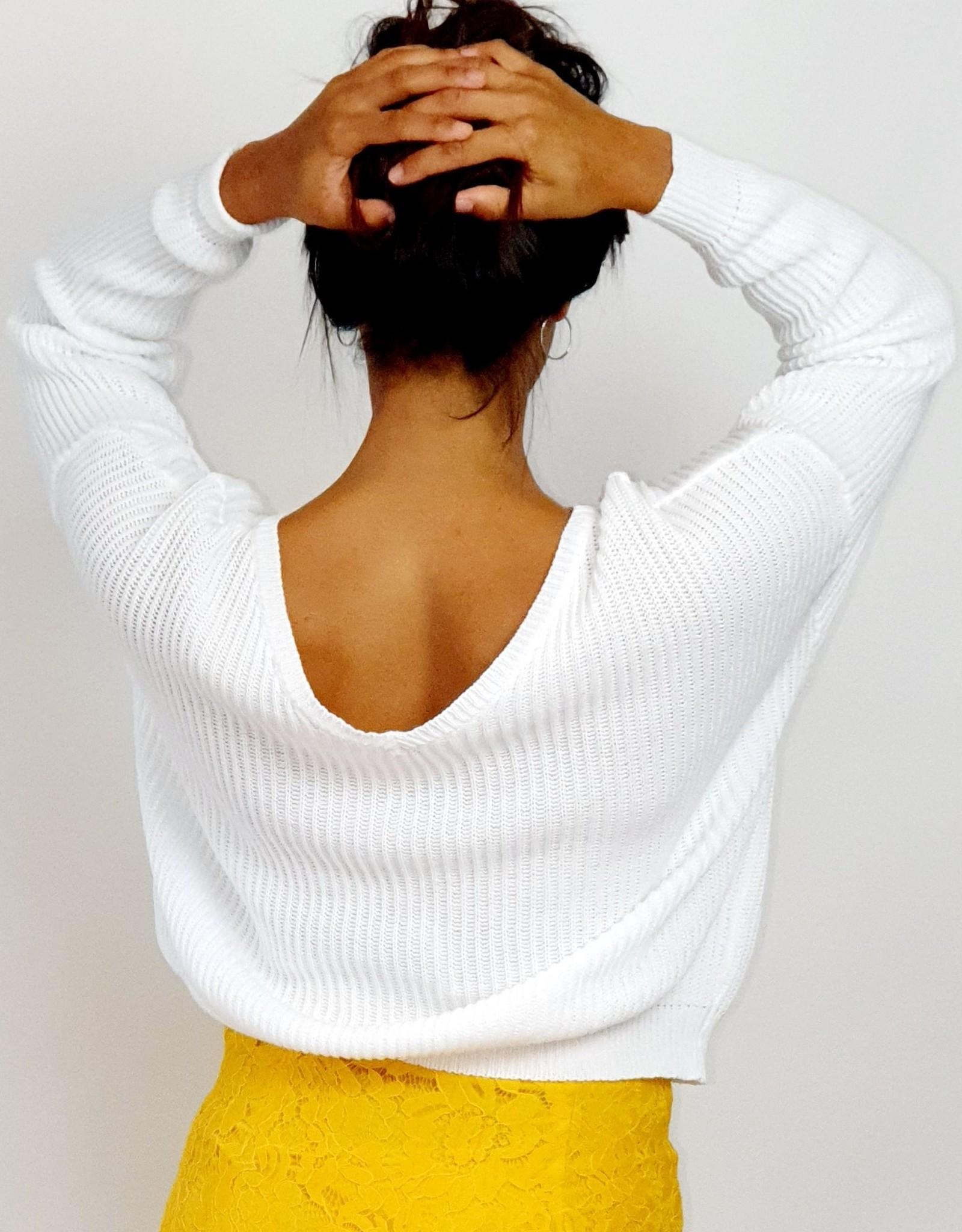 Classy white sweater
