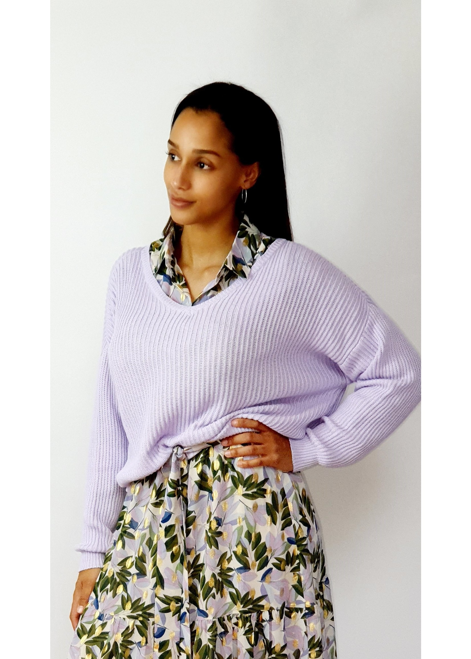 Classy lilac sweater