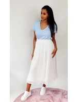 Romantic casual skirt