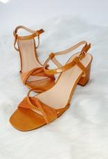 Cognac croco heels