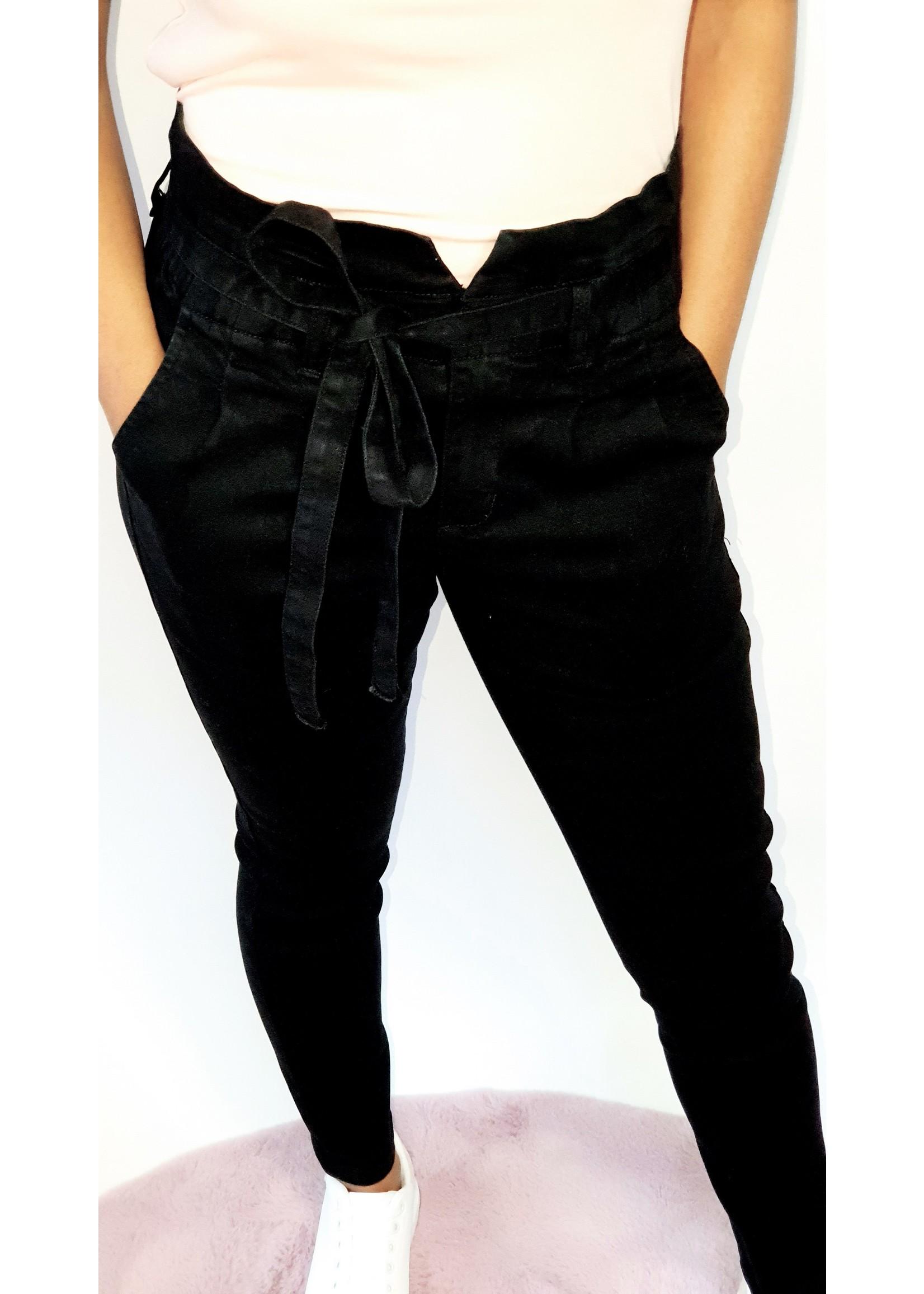High waist black