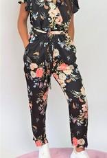 Flower satin jumpsuit