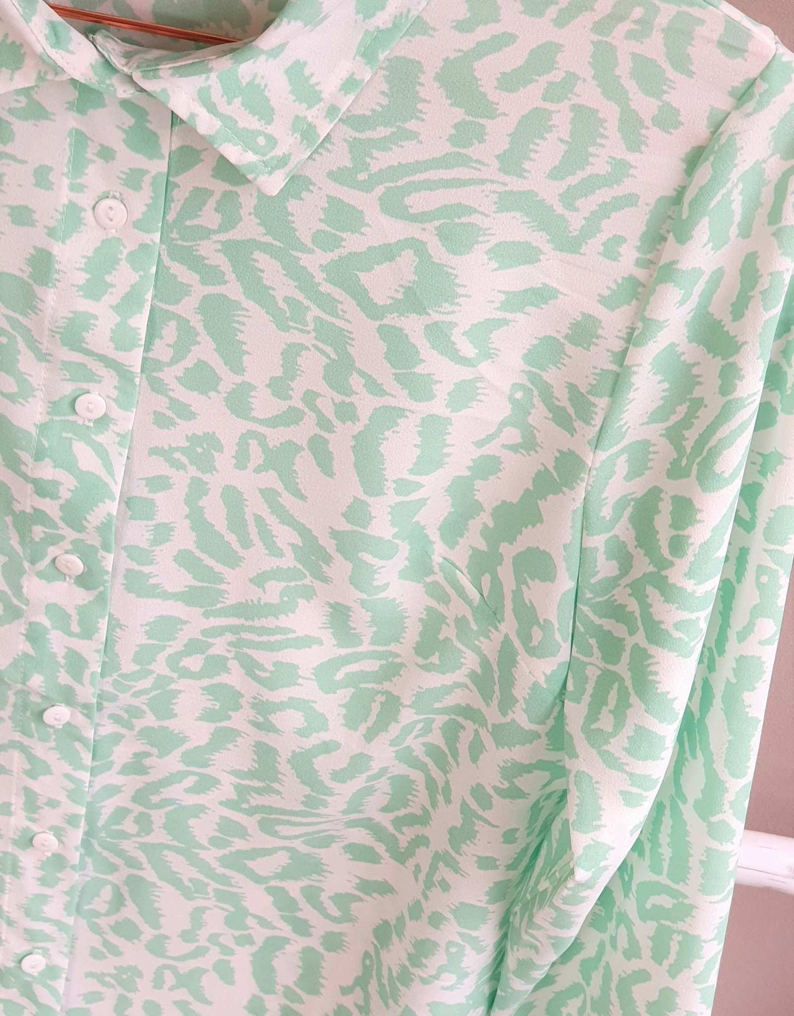 Mint and printed leopard