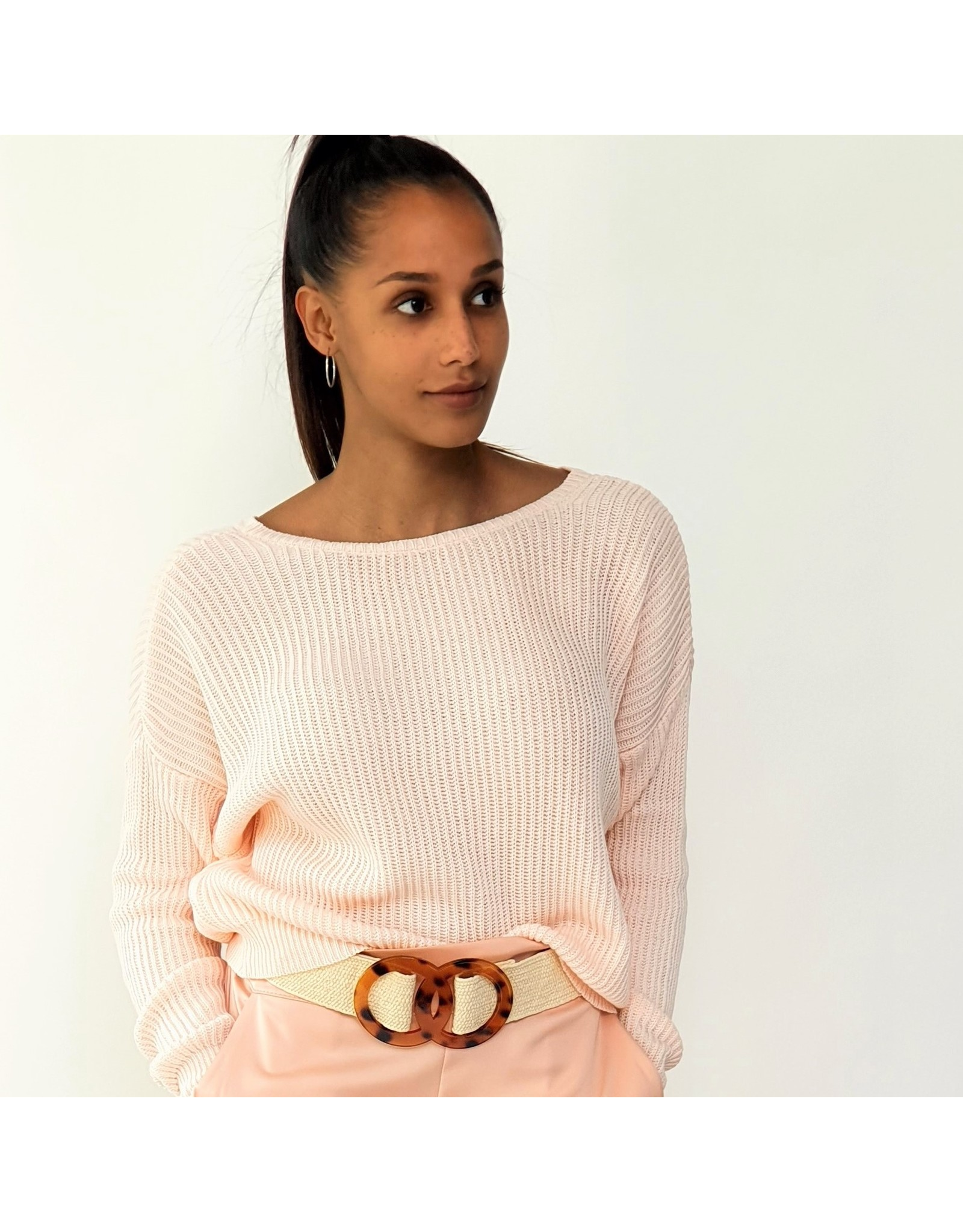 Classic pink sweater