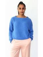 Blue feeling knitted sweater