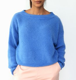 Blue feeling knitted sweater