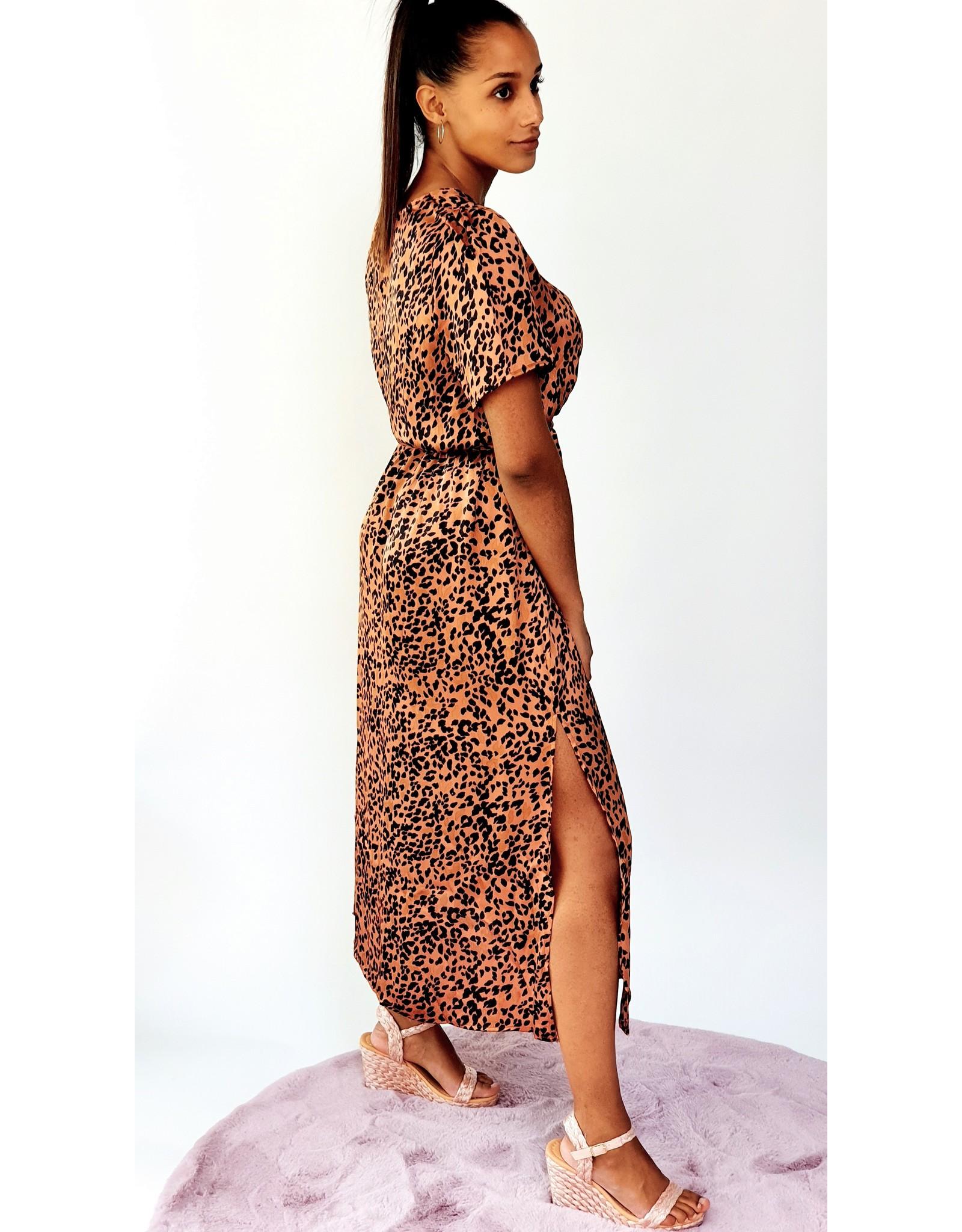 Thé satin leopard dress
