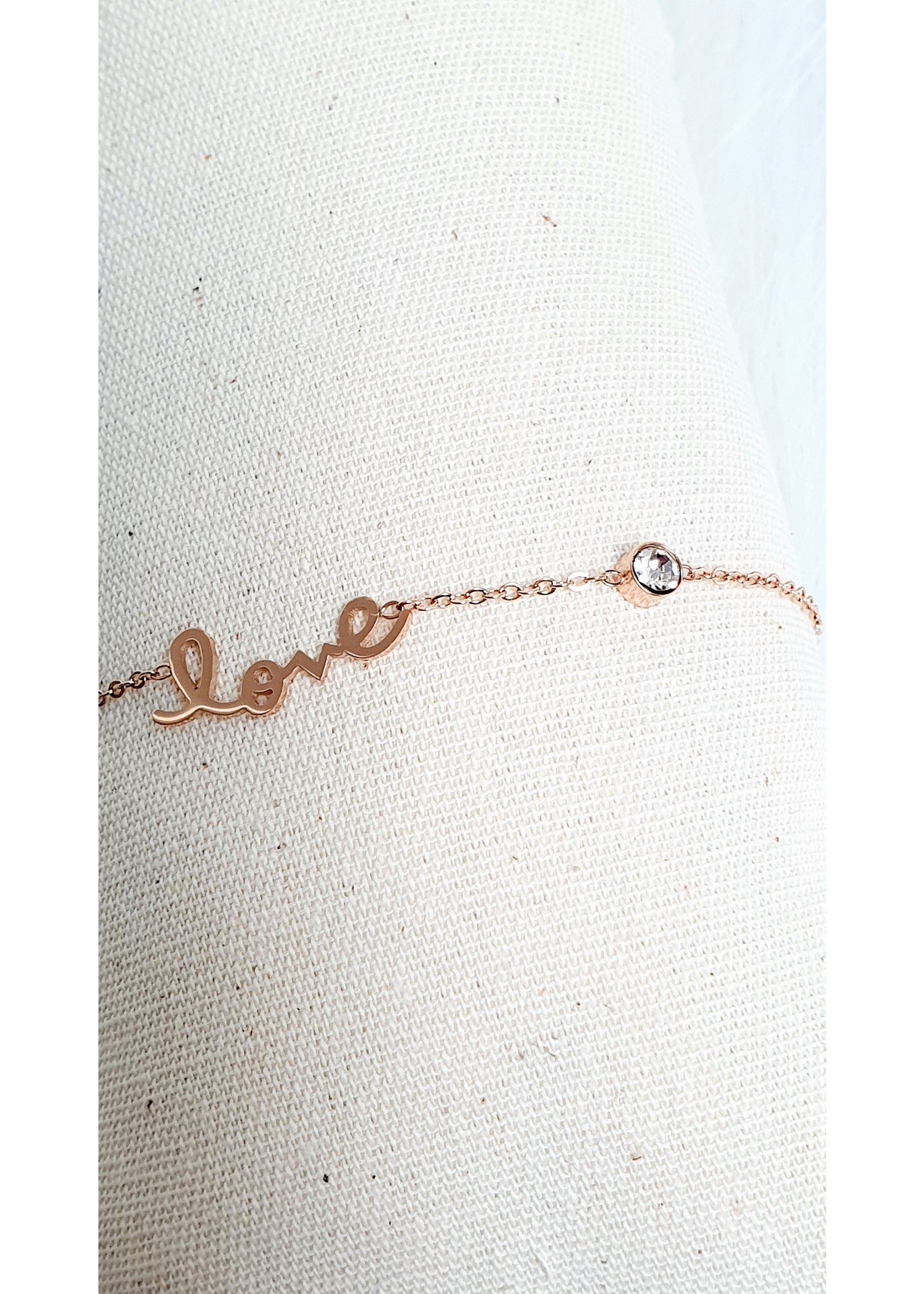 Armband LOVE rosé