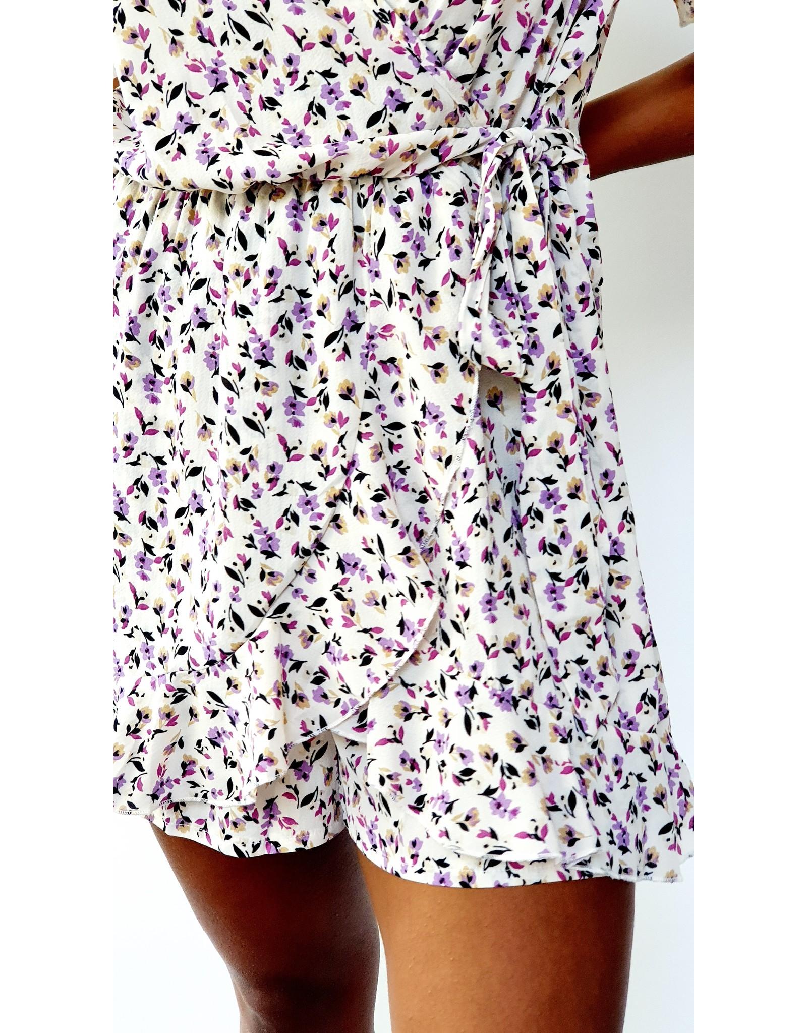 Thé lilac flower playsuit