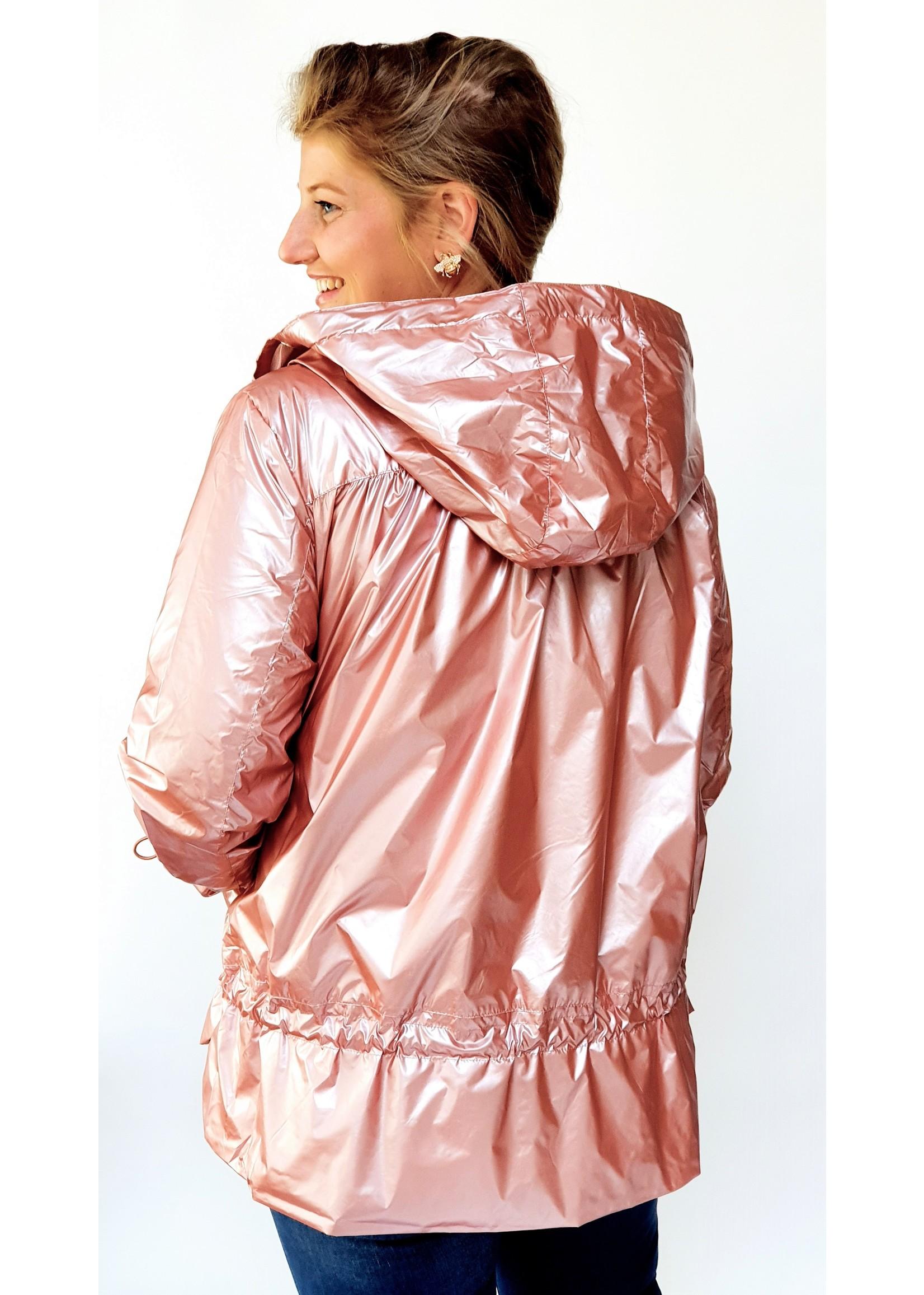 Shiny pink jacket