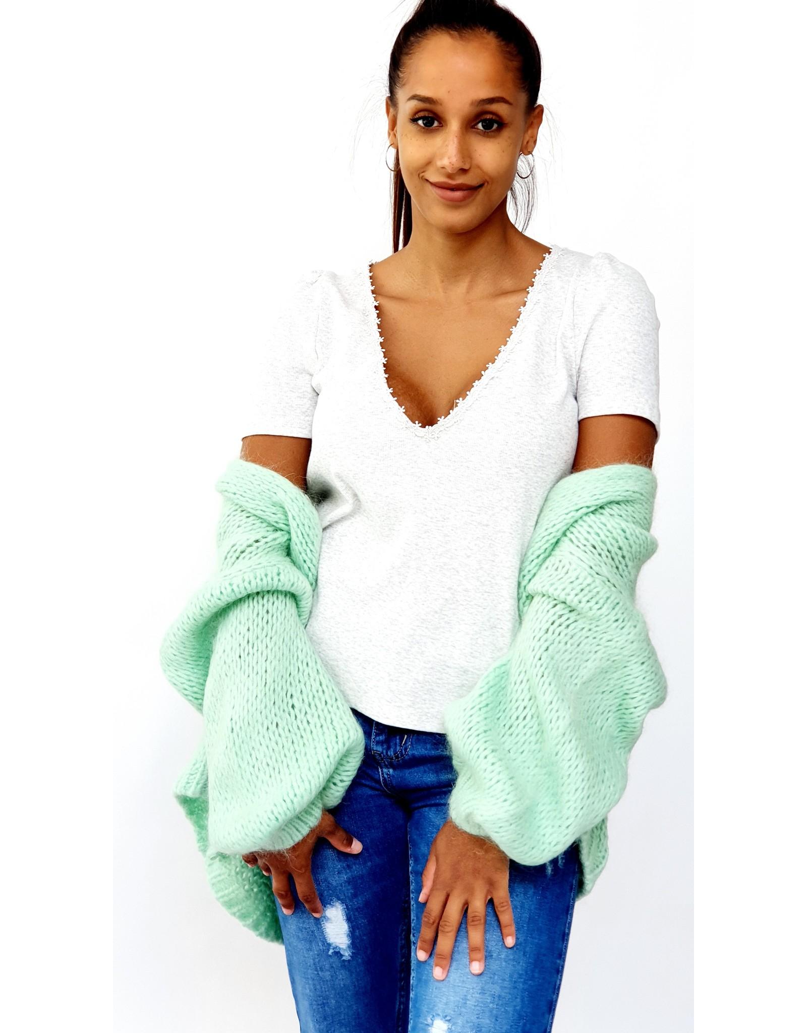 Poppy bright mint cardigan