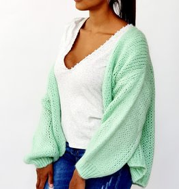 Poppy bright mint cardigan